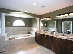 l'éclairage de la salle de bain