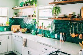cuisine-coloree-carrelage-vert